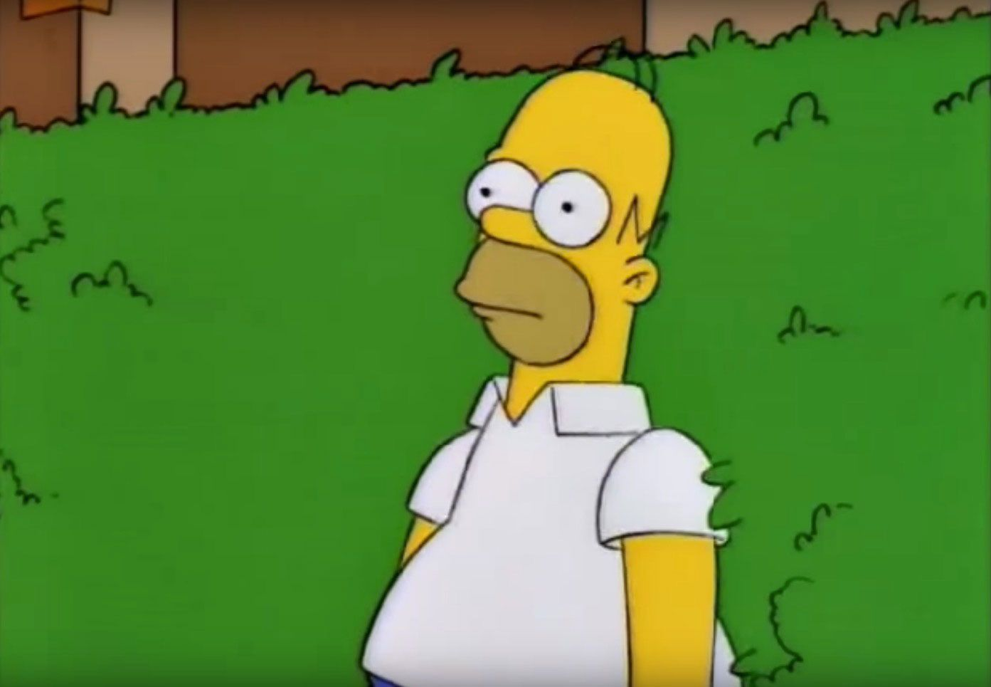 The Simpsons goes all 'inception' as Homer uses the 'Homer backing in to a  hedge' gif in latest episode