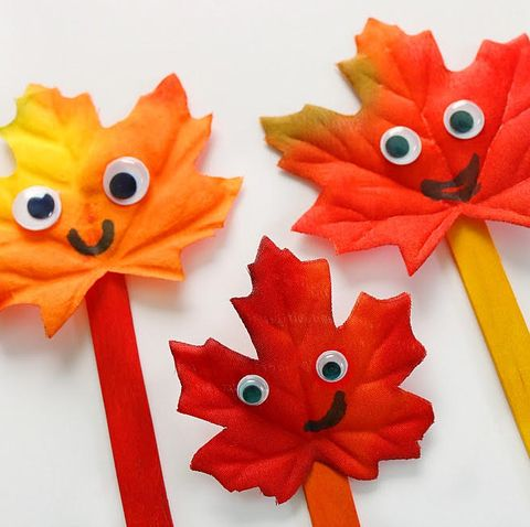 leaf puppets   leaf craft leaf art for kids