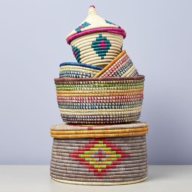 Storage basket, Basket, Crochet, Textile, Wicker, Home accessories, Thread,