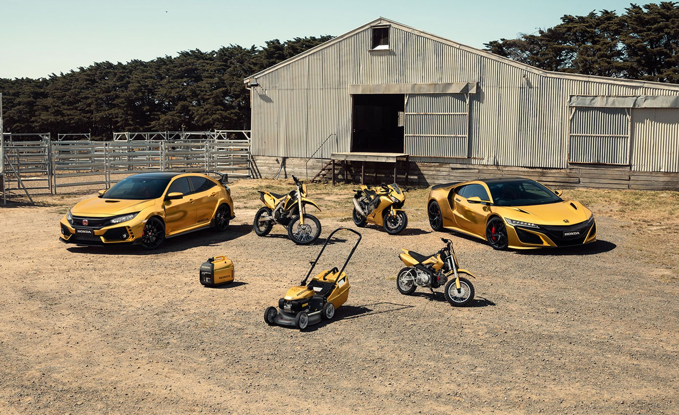 Honda Civic Type R And Nsx In Gold Australian Anniversary