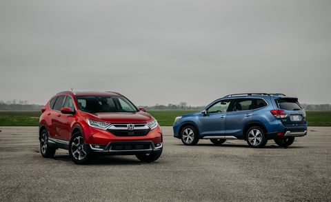 2019 Honda CR-V vs. 2019 Subaru Forester: Which Is the Stronger Compact-SUV Choice?