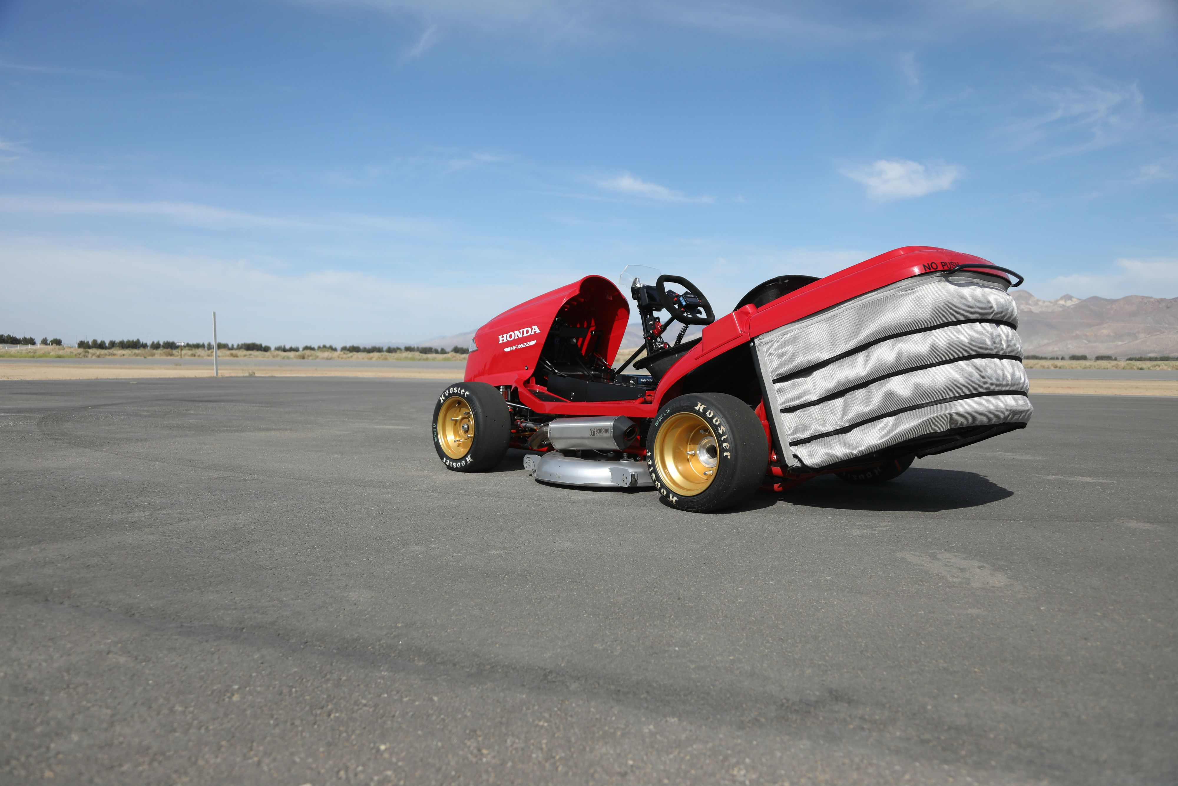 Driving a 150-Mph Lawnmower Is a Scary-Fast Thrill Ride