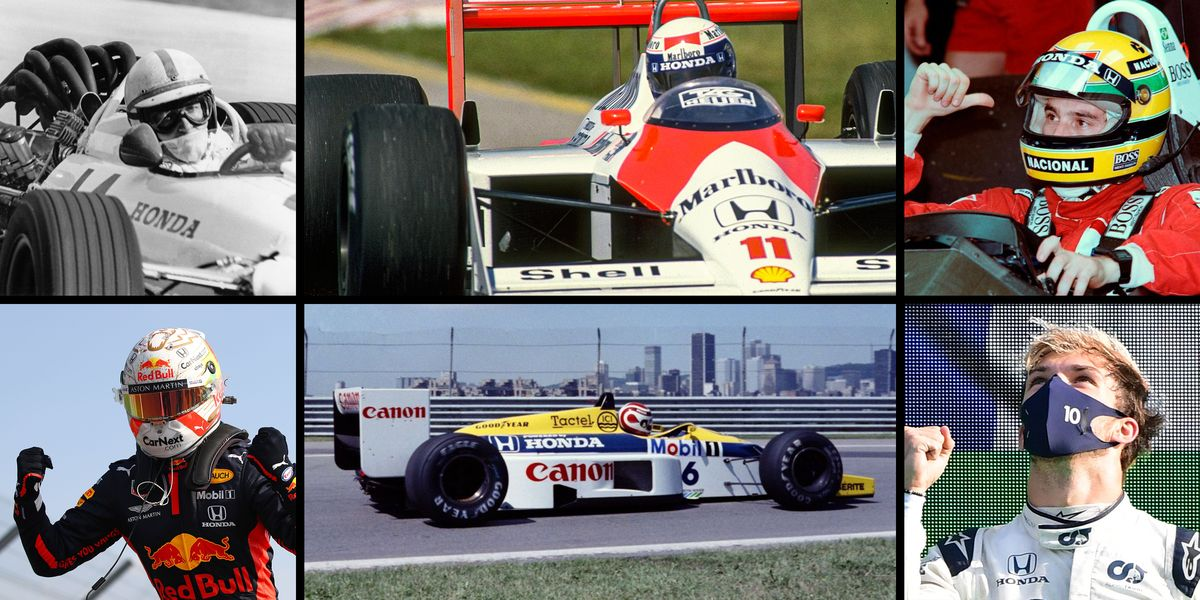 From Ginther to Senna to Gasly, the 14 Drivers Who Won in F1 with Honda Power
