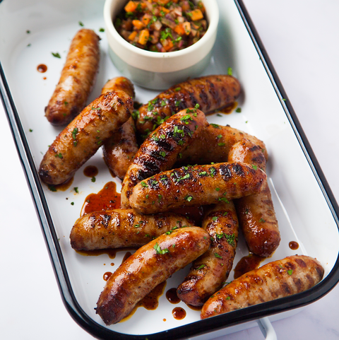 BBQ honey sausages