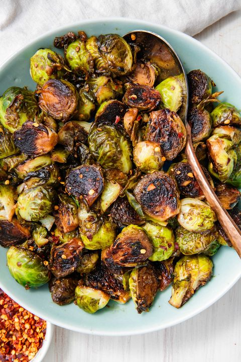 Honey Balsamic Glazed Brussels Sprouts