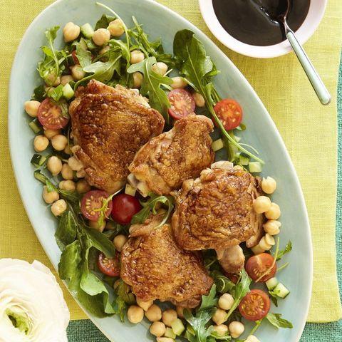 gluten free dinner recipes - Honey Balsamic Glazed Chicken with Arugula Salad