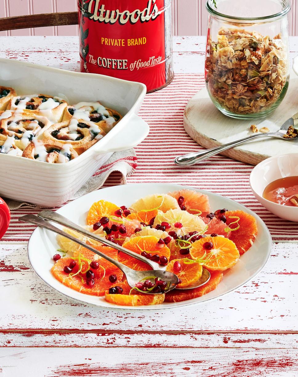 Honey-Drizzled Citrus Salad with Pistachio-Poppy Seed Granola