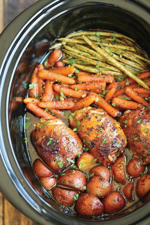 honey garlic chicken veggies crock pot recipes