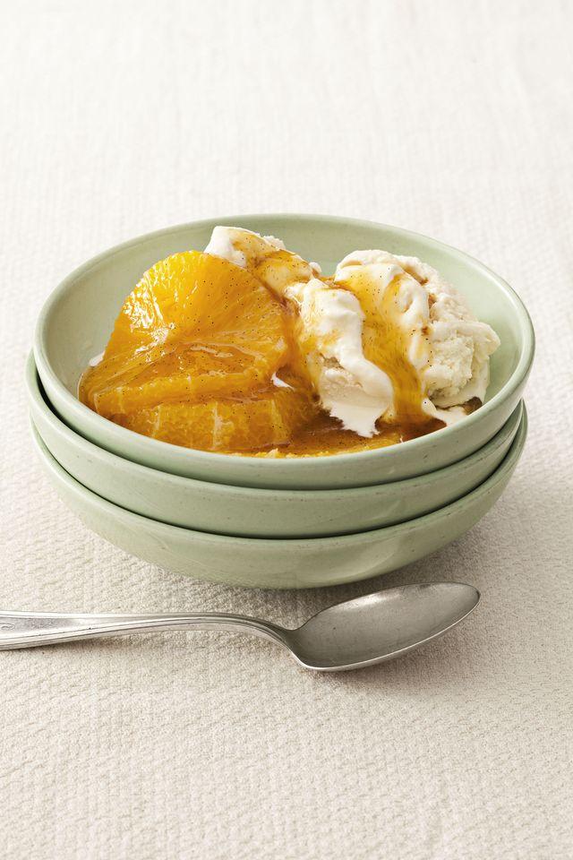 honeypoached oranges
