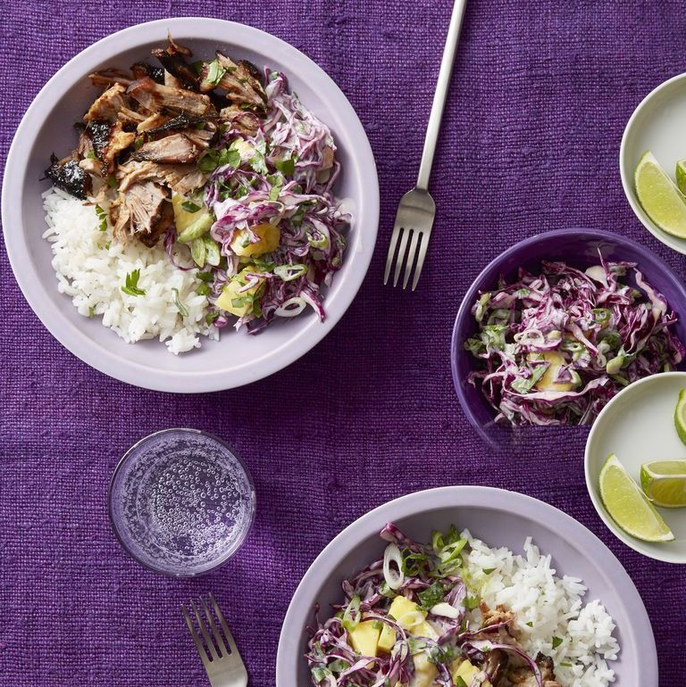 Honey-Lime Pork with Pineapple Slaw To make slow cooked pork a perfect dish all summer long? Mix it together with bright lime juice and chunks of fresh pineapple right before serving.