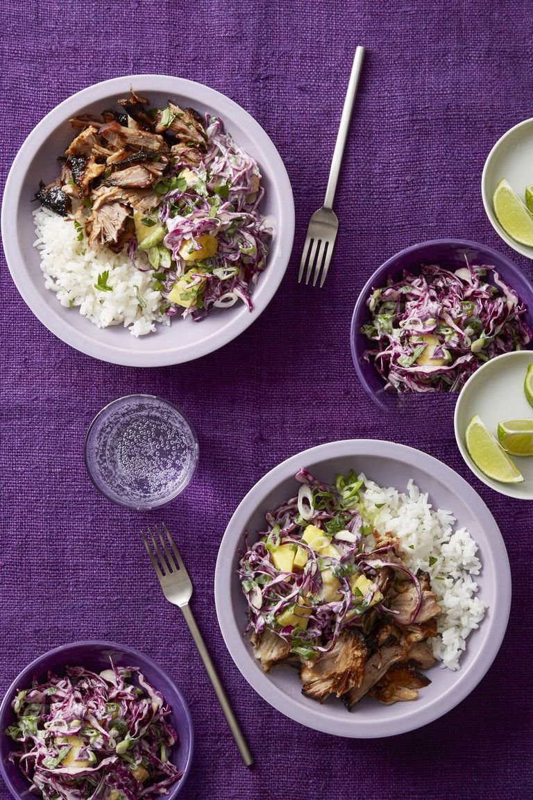 honey-lime pork with pineapple slaw