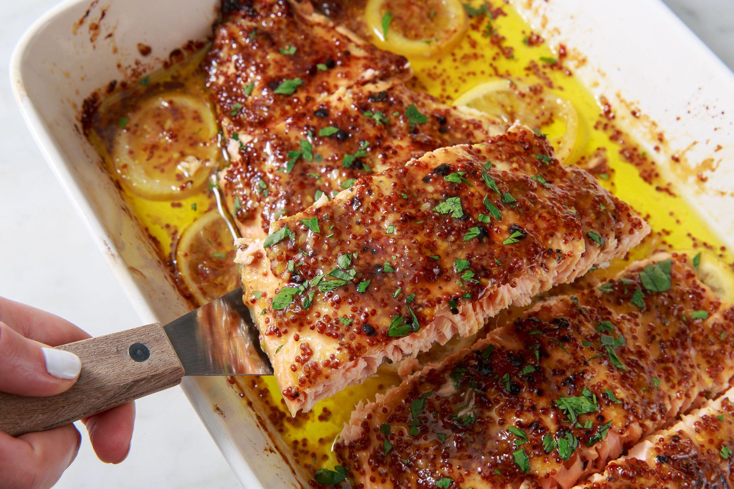 Honey Mustard Roasted Salmon