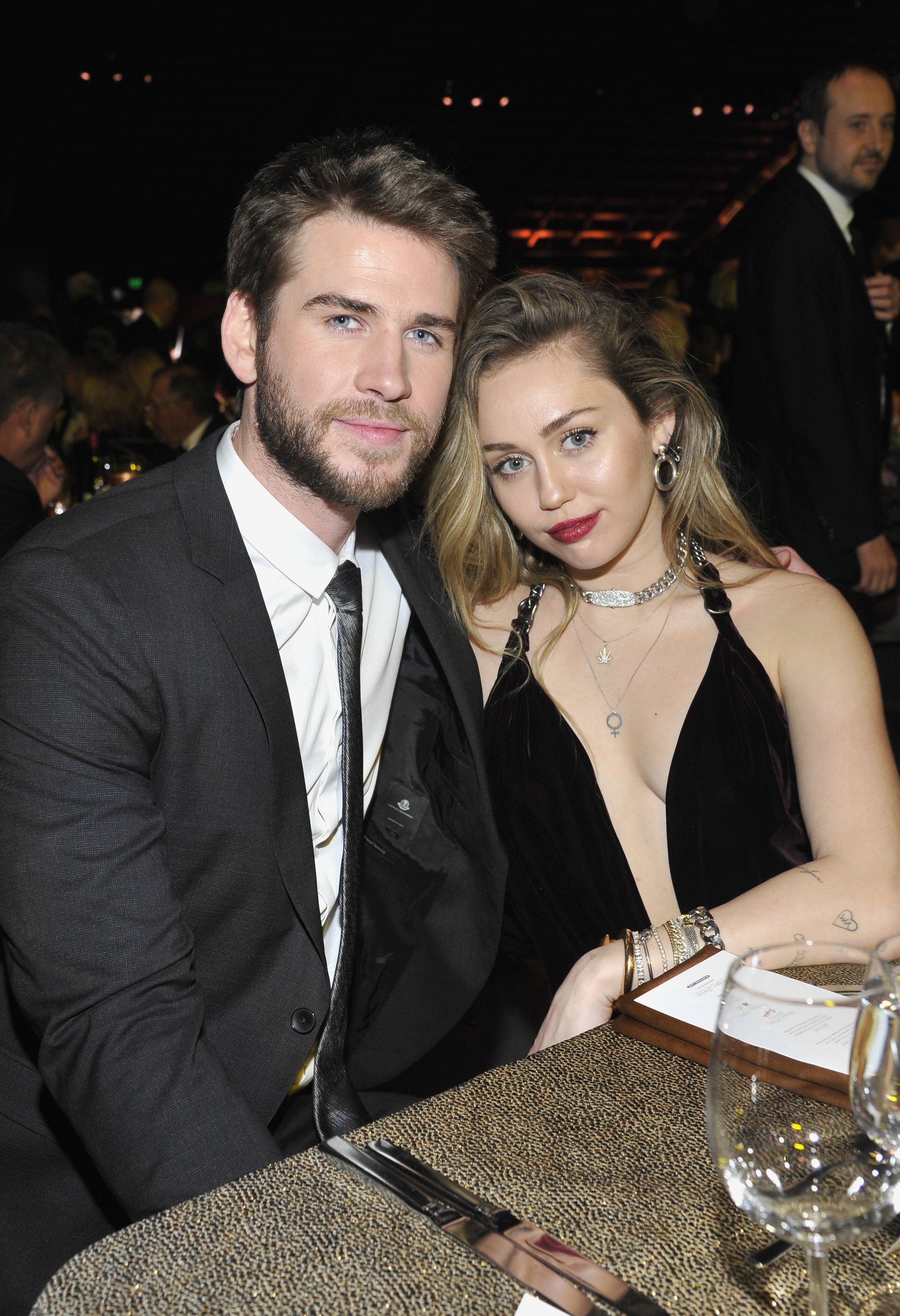 d7a71f357 Why Liam Hemsworth Wasn't with Miley Cyrus at the Grammy Awards