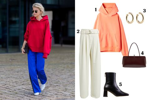Clothing, Red, Street fashion, Pink, Fashion, Footwear, Outerwear, Neck, Leg, Boot,