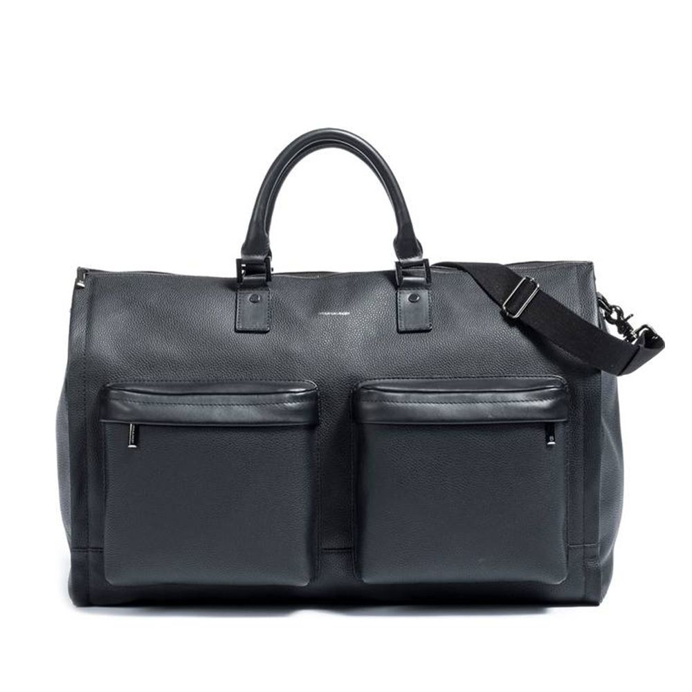 hook albert leather weekender bag