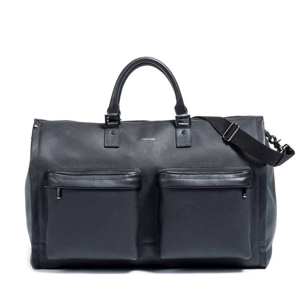 hook albert leather weekender bag
