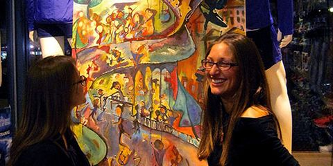 Hope Phelan at Boston Marathon art show