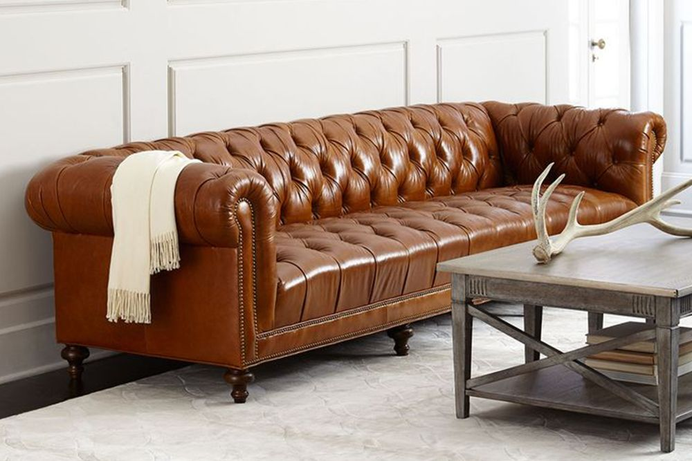 Nice Massoud Davidson Tufted Seat Chesterfield Sofa