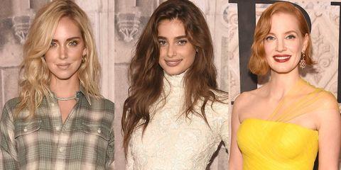 Hair, Fashion model, Clothing, Hairstyle, Blond, Beauty, Dress, Fashion, Yellow, Long hair,