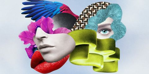 Colorfulness, Pink, Art, Eyelash, Feather, Magenta, Teal, Lipstick, Natural material, Animation,