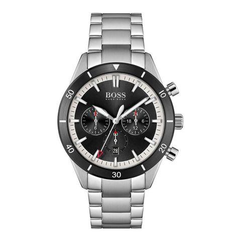 boss santiago horloge mannen sieraden klok zilver zwart