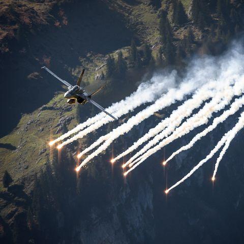 switzerland army aviation show air plane
