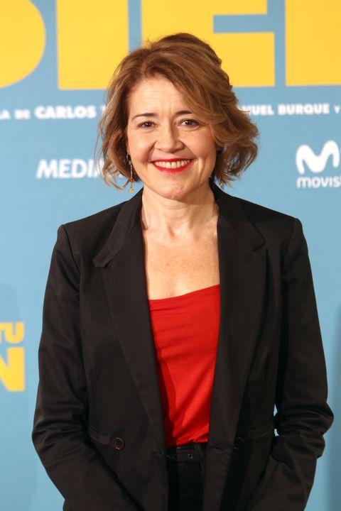 la actriz maría pujalte durante la promoción de la película  es por tu bien en madrid