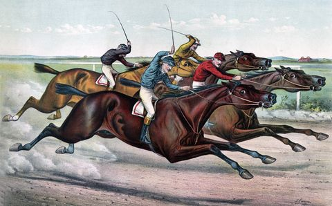 Horse, Rein, Animal sports, Bridle, Jockey, Illustration, Horse racing, Conquistador, Horse trainer, Art,