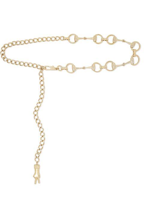 GucciHorsebit gold-tone belt