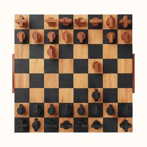 hermés 愛馬仕居家時髦玩具小物 horsecut 檀木西洋棋