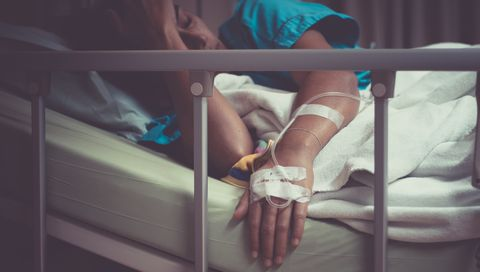 hospital bed woman