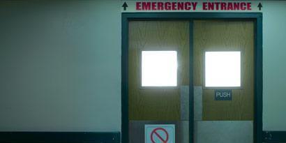 Property, Glass, Fixture, Parallel, Door, Composite material, Rectangle, Gas, Paint, Signage,