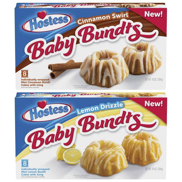 hostess baby bundts cinnamon swirl and lemon drizzle