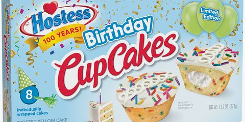 Hostess Is Celebrating 100 Years With Sprinkle-Filled Birthday CupCakes