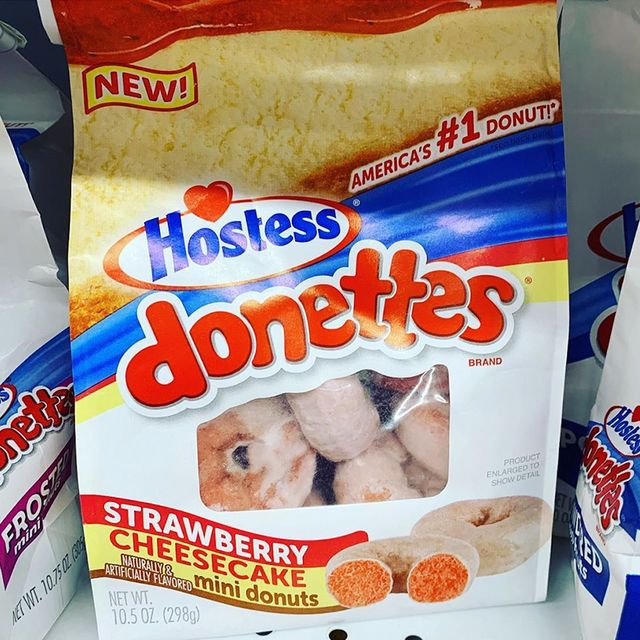 strawberry cheesecake donettes from hostess