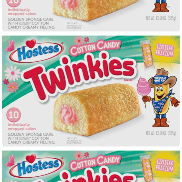 hostess twinkies cotton candy