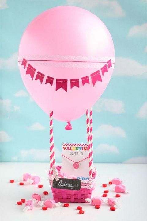 diy hot air balloon valentine box