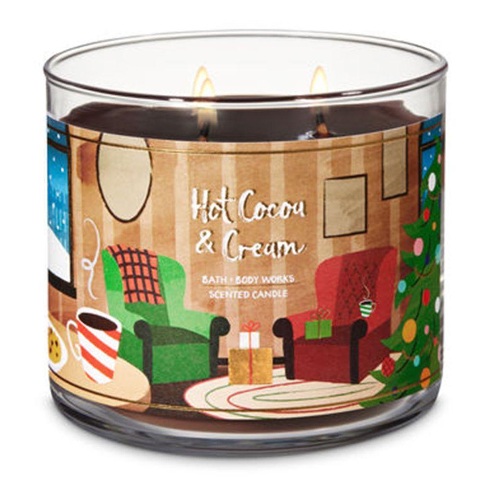 Hot Cocoa & Cream Three-Wick Candle
