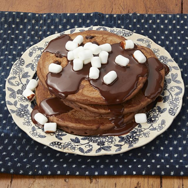 best pancake toppings  hot cocoa pancakes