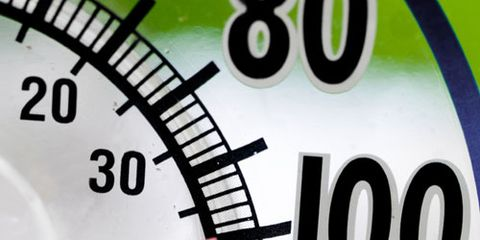 Hot Thermometer with Green