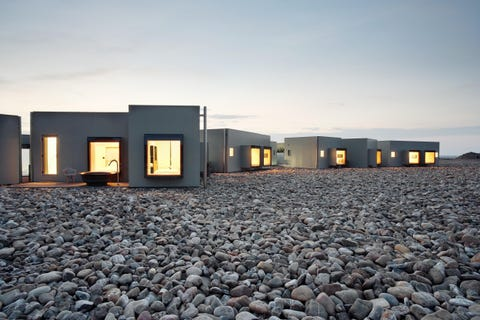 Natural environment, Sky, House, Architecture, Landscape, Cobblestone, Building, Gravel, Facade, Home,