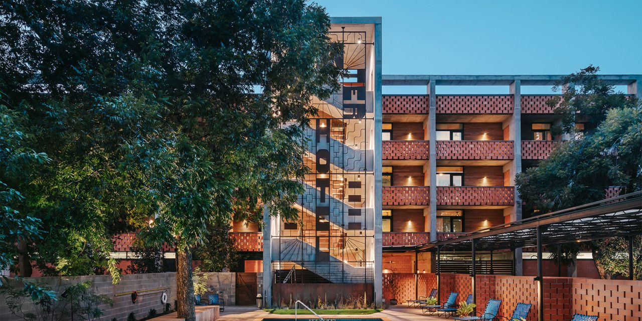 Piscina del hotel Carpenter en Austin, Texas