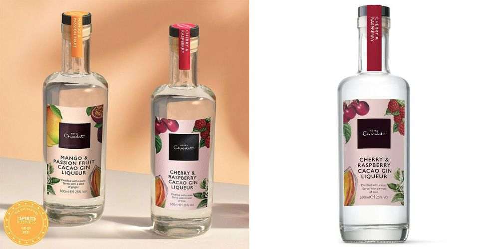 Hotel Chocolat's Gin Now Comes In A Cherry & Raspberry Chocolate Flavour