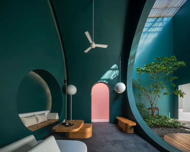 resort sala samui chaweng beach arcos geometría