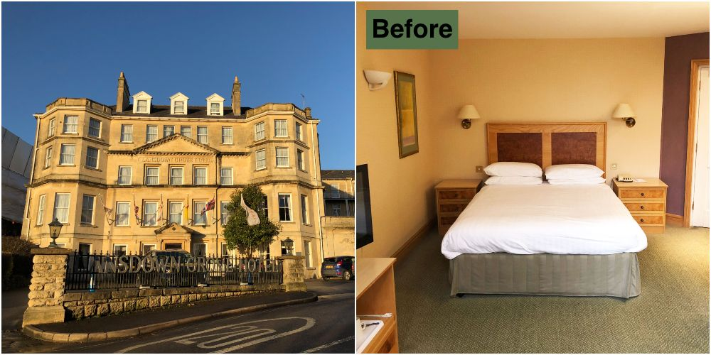 Country Living Hotel Bath: Before And After