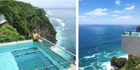 Glass Bottom Cliff Side Swimming Pool In Bali