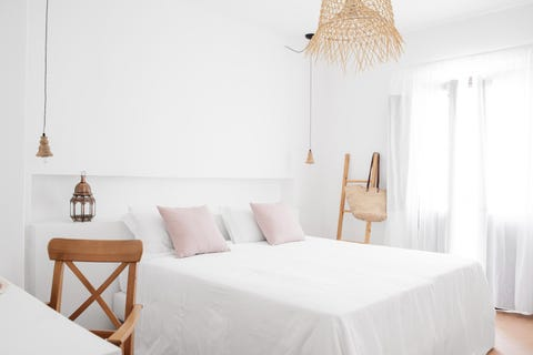 Bedroom, Furniture, Room, Bed, White, Property, Interior design, Product, Bed sheet, Wall,