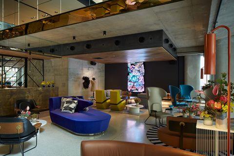 Salón del hotel QT Melbourne