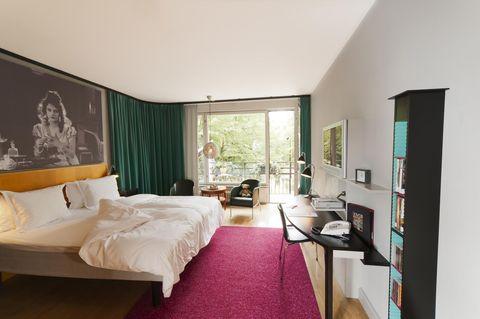 Unas de las habitaciones del hotel Rival