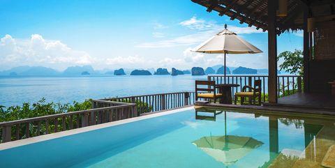 Piscina infinity del hotel Six Senses Yao Noi